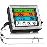 SMARTRO ST54 Dual Probe Digital Meat Thermometer for Food Cooking Kitchen Oven Smoker BBQ Grill with Timer Mode and Commercial-Grade Probes