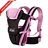 Baby & Child Carrier Baby Carrier Backpack Ventilate Adjustable Buckle Mesh Wrap(PINK)