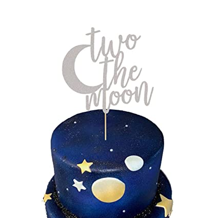 Admirable Two The Moon Cake Topper 2Nd Birthday Cake Topper I Love You To Personalised Birthday Cards Cominlily Jamesorg