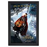SnapeZo Movie Poster Frame 27x40 Inches, Black 2.2'' Aluminum Profile, Front-Loading Snap Frame, Wall Mounting, Super-Wide Series for One Sheet Movie Posters