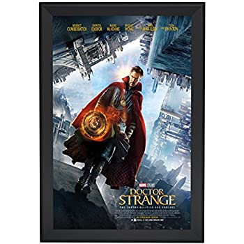 movie poster frame 27x40 inches black snapezo 22 aluminum profile front loading - Movie Poster Frames 27x40