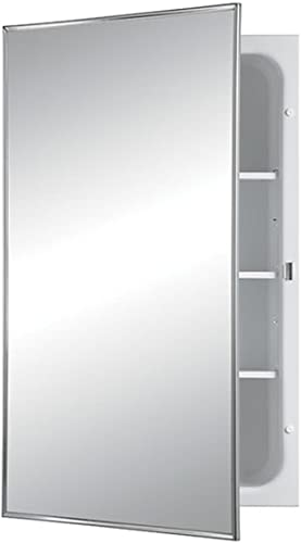 Jensen 468BCX Stainless Steel Frame Medicine Cabinet