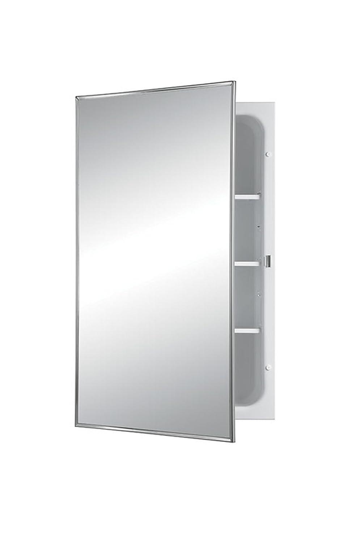 Jensen 468BCX Stainless Steel Frame Medicine Cabinet, 16 x 26
