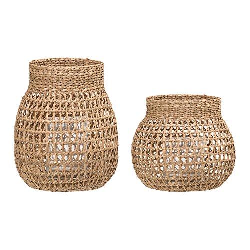 Bloomingville Natural Seagrass Lanterns (Set of 2), 9