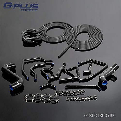 Fit For Subaru Impreza Wrx Gda/gga Sti Gdb/ggb Ej20 2000-2009 Silicone Radiator Coolant Hose Kit Clamps With Vacuum Hose Pipe Kit ()