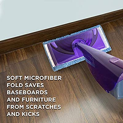 Washable Reusable Microfiber Mop Pads Compatible with Swiffer Sweeper Millifiber Mop Refills Pack of 2 Mop Replacement Cover.