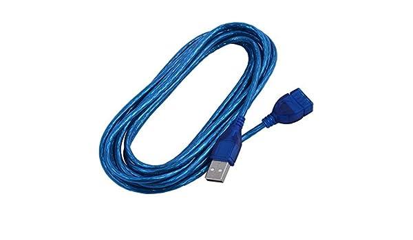 Amazon.com: eDealMax USB 2.0 Macho a hembra de carga de datos por Cable de extensión de alimentación 10 pies de Largo Para PC portátil: Electronics