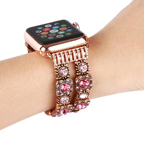 Pink Beaded Watch - 8