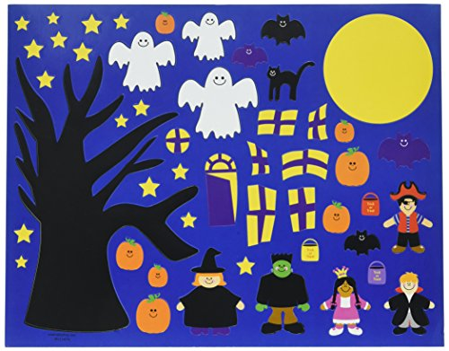 Scene Halloween Costumes (Halloween Sticker Scene (12 Sets)Party Activity/Goody Bag/Grab Bag/Monsters and Pirates and Bats...Oh)
