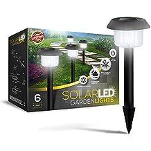 SolarGlow Solar Garden Lights - Super-Bright 15 Lumens - Perfect Neutral Design; Makes Garden Pathways & Flower Beds Look Great - Easy NO-WIRE Installation; All-Weather/Water-Resistant