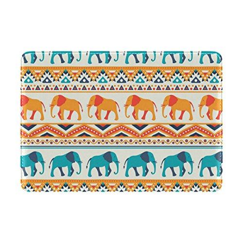 COOSUN Tier Elefant Muster Leder Reisepass Hülle für Travel One Pocket