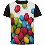 jelly bean tshirt - Old Glory Halloween Jelly Beans All Over Mens Black Back T Shirt Multi MD