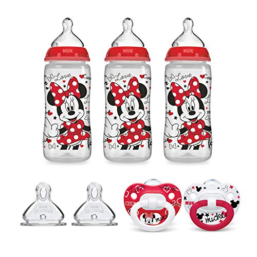 Newborn Pacifier Disney - NUK Disney Baby Bottle & Pacifier Newborn Set, Minnie Mouse