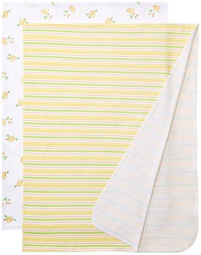 Spasilk Unisex-Baby Newborn 2 Pack Swaddle Blanket, Yellow D