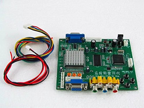 HonsCreat Video Converter GBS8200 1 Channel Relay Module Board CGA/EGA/YUV/RGB to VGA HD Arcade Jamma Game Video Converter Board 1 VGA Output CRT PDP LCD Monitor GBS-8200