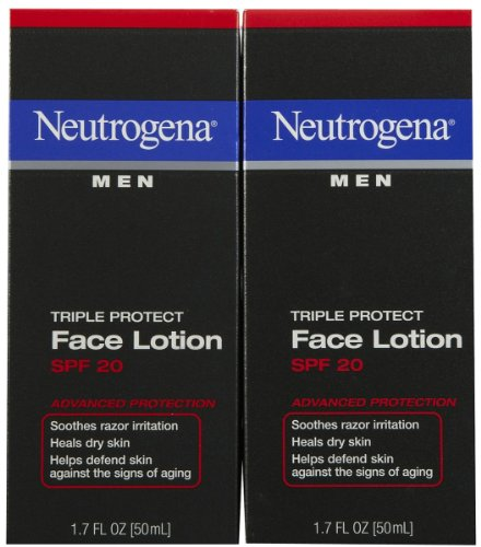 Triple Protect Face Lotion,SPF 20, 1.7 oz, 2 pk