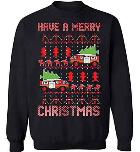 Fire Truck Christmas Sweatshirt