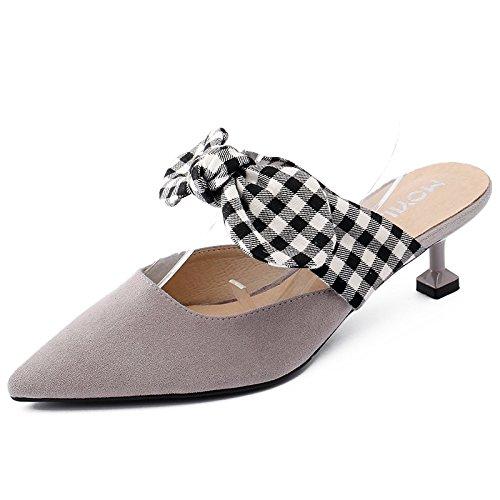 Filtro Pantofole Femminili Baotou Donna Ha Da Tie Calzature Bow GAOLIM Il Con Sottolineato rosa Estate Scarpe Indossare E X8g5z