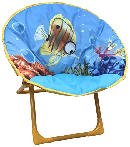 Yummy Cooky Moon, Lounge Chair For Toddlers and Kids, Lightweight Foldable Kids Saucer Chair by Yummy Cooky