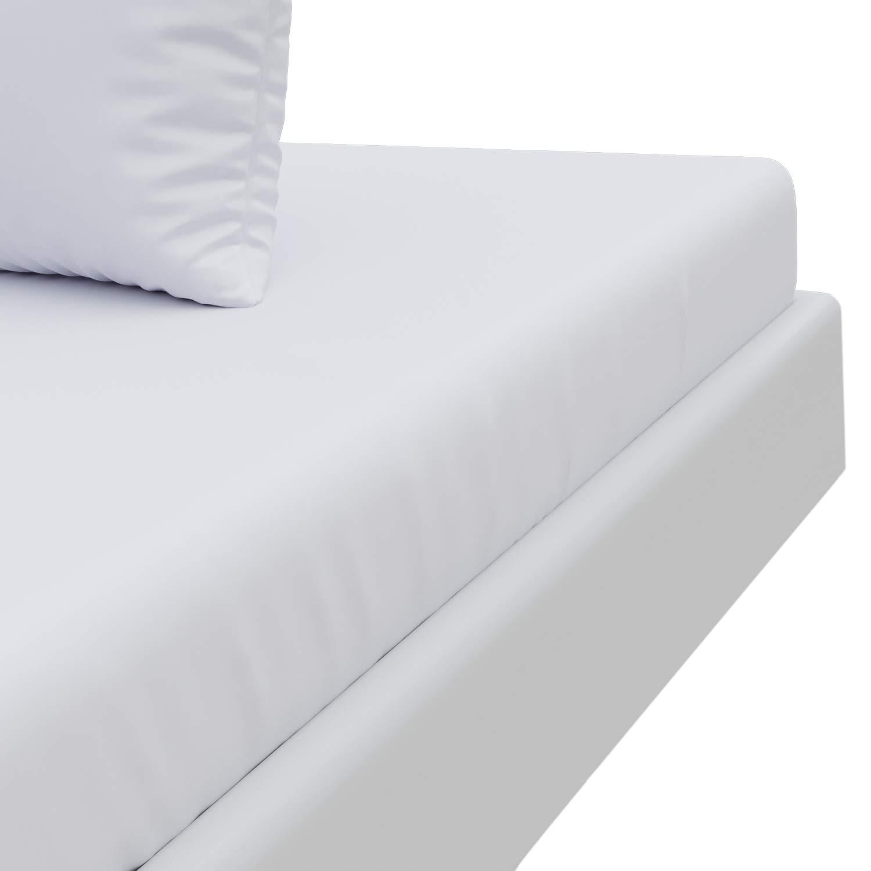 Sábana Ajustable Microfribra Blanco Alabastro (135 x 190 x 30cm, Adulto), No