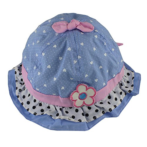 Baby Girls Infant Kids Sun Hats Caps Summer Bowtie Heart-shaped Ruffle Flower