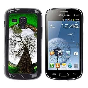 MOBMART Carcasa Funda Case Cover Armor Shell PARA Samsung Galaxy S Duos S7562 - Tree Of A Circle Earth