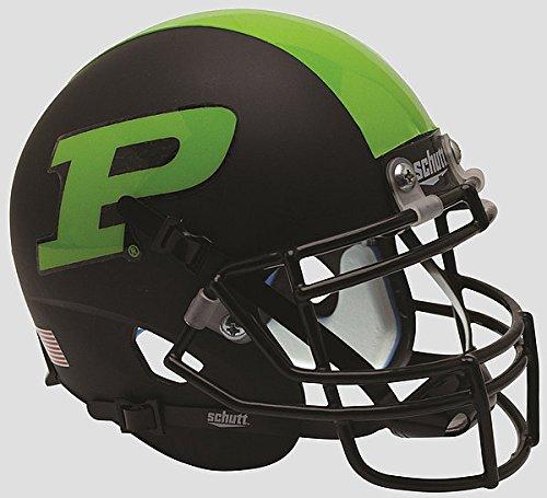 Schutt Purdue Boilermakers Mini XP Authentic Helmet Green Stripe - NCAA Licensed Gift