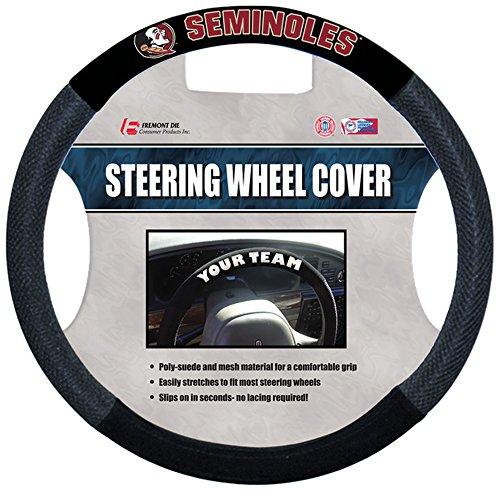 Wheel Cover Poly Steering Suede - NCAA Florida State Seminoles Poly-Suede Steering Wheel Cover, Team Color,