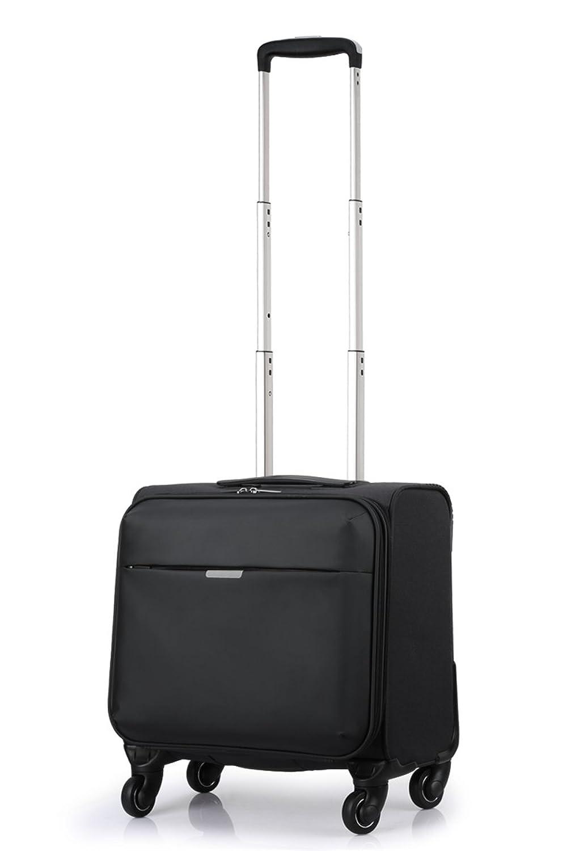 スーツケース TSAロックソフトキャリーケース 機内持込 軽量 四輪キャリーバッグ USBソケットを含む B075SGDHLL  SSサイズ black