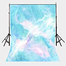 LYLYCTY 5X7ft Dreamy Milky Way Backdrop Blue Marble Texture Pattern Studio Photography Backdrop Girl Children Party Props LYGE606