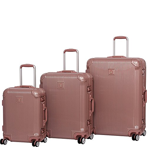 it luggage Crusader 3-Piece Hardside 8-Wheel Set, Almondine