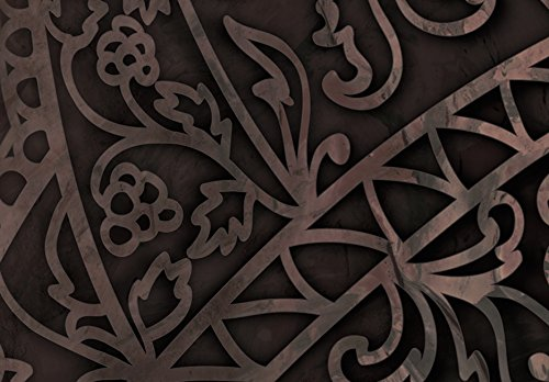 murando Quadro 200x100 cm 5 Pezzi Stampa su Tela in TNT XXL Immagini Moderni Murale Fotografia Grafica Decorazione da Parete Mandala Orient Ornament f-C-0132-b-n