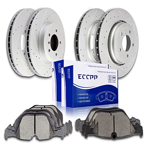 (Brake Parts,ECCPP 4pcs Discs Brake Rotors and 8pcs Ceramic Pads Brake Kit for 2001-2006 BMW 330Ci,2001-2005 BMW 330i,2001-2005 BMW 330xi)