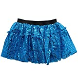 Sparkle Running Skirt Race Tutu – Size 6-16, Costume, Princess, Ballet, Dress-Up, 5K 10K (S/M, Turquoise Blue)