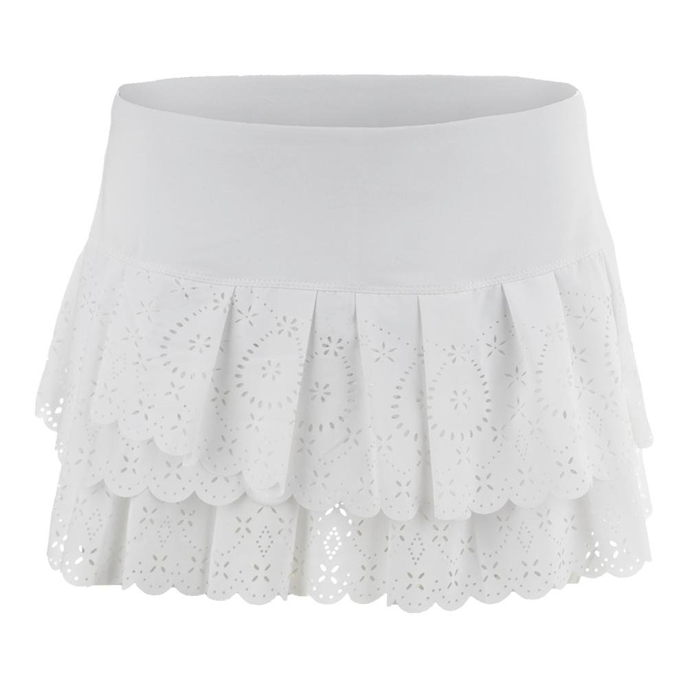 Lucky in Love Laser Pleat Tier Skirt-Medium-White