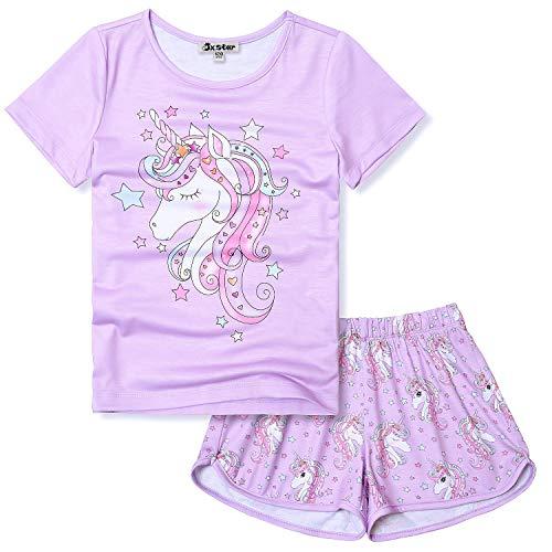 Unicorn Pajamas for Teen Girls 12 13 Purple Pj Sets Clothes Summer -