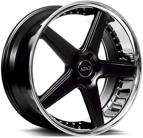 Azad AZ008 – 20 Inch Black & Chrome Staggered Rims