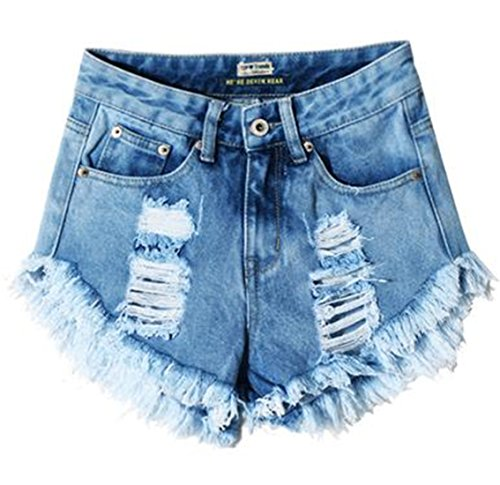 Frayed Cut Off Shorts - 8