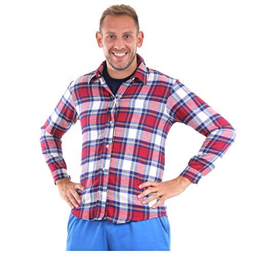 Fantasia Camisa Bento Adulto 49126-g Sulamericana Fantasias Vermelho/azul G 46/48