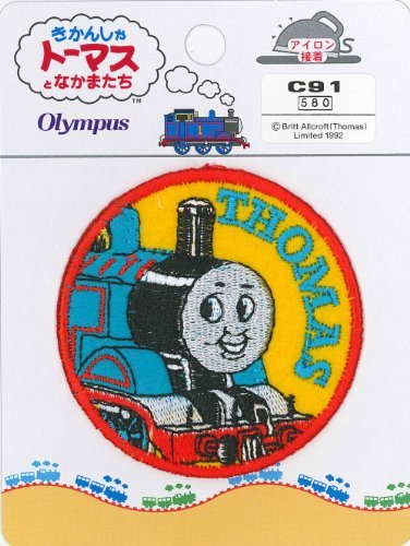 Japan Import Orimupasu made 絲 Thomas the Tank Engine badge Thomas C91 (Badge Thomas Tank)