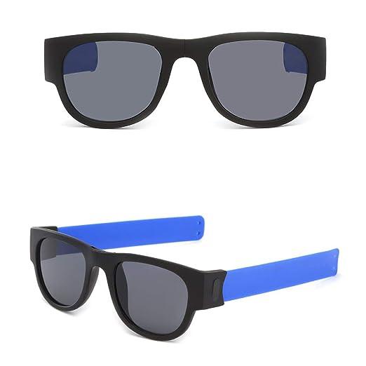 5ba1334cadd Birdfly Wristband Foldable Sunglasses Driving Goggles Snap Bracelet (Blue)