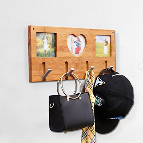 SDFDSVDCGVSGVCGD Wall Coat Rack,Bedroom Wood Hanger Wall Hanger Clothes Rack Living Room Entrance Frame Hook-A by SDFDSVDCGVSGVCGD (Image #2)