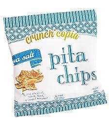Crunchicopia Premium Pita Chips, Sea Salt, 1oz Snack Bags (Pack Of 24)