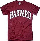 Harvard University T-Shirt - Arched Block - Crimson -M