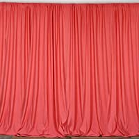 BalsaCircle 10 ft x 10 ft Polyester Professional Backdrop Curtains - Coral