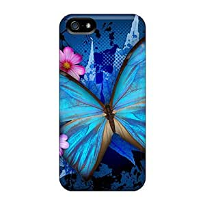 FashionE-Space Case Cover For Iphone 5/5s - Retailer Packaging Butterfly Protective Case