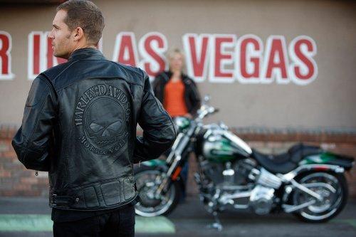 Davidson Reflective Skull 98099 Harley Leather Jacket 07vm 76gfYyIbv