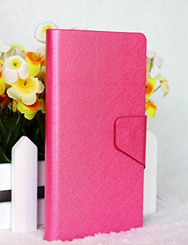 Silk Veins Style PU Leather Flip Stand With Card Slot Wallet Case Cover For HTC Salsa G15 C510E (Rose Red) (Silk Salsa)