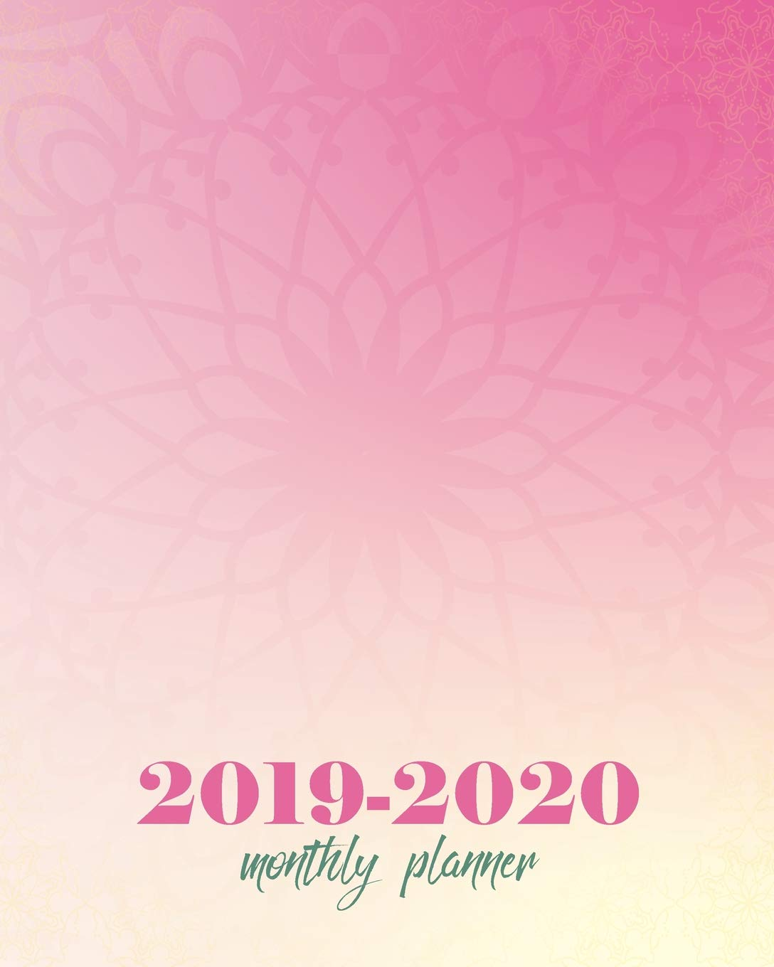 Monthly Planner 2019-2020: Pink Pattern Cover for 24 Months ...