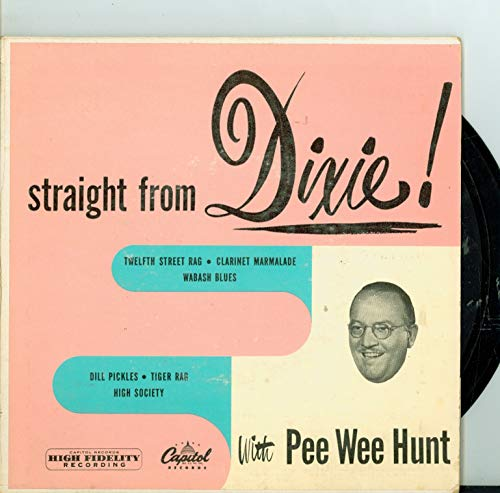 Extended Play Double Record (EP) ft 8 songs: 12th Street Rag | Clarinet Marmalade / Wabash Blues / Tiger Rag + 4 more - Pee Wee Hunt And His Orchestra (Capitol Records 1950) Excellent (5 out of 10) - Vintage 45 RPM Vinyl Record